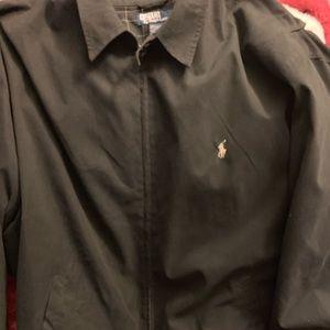 Polo jacket 2lt black tan pony